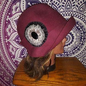 Plum Cloche Hat